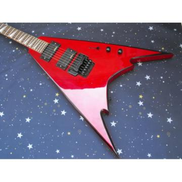 Custom Shop Jackson Red Flying V Electric Guitar