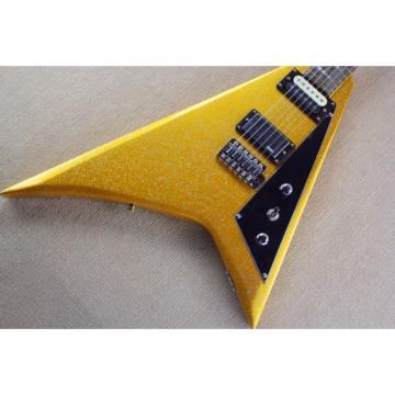 Custom Shop Jackson Flying V Gold Dust Electric Guitar