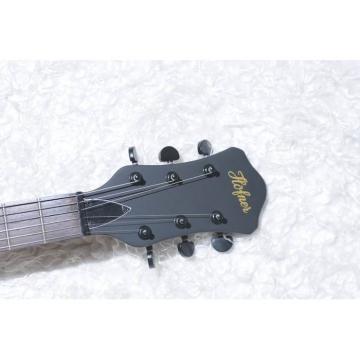 Custom Shop Hofner Fhole Walnut Brown Electric Guitar