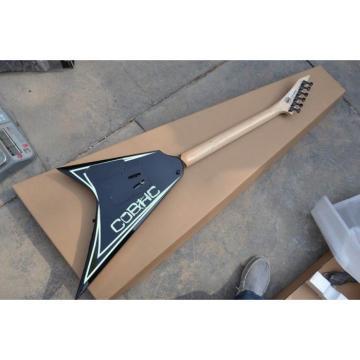 Custom Shop ESP Flying V Alexi Laiho Greeny With Skull Electric Guitar