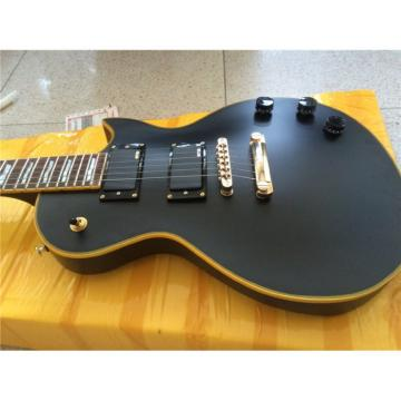 Custom Shop Eclipse ESP Matte Black Gold Hardware Electric Guitar