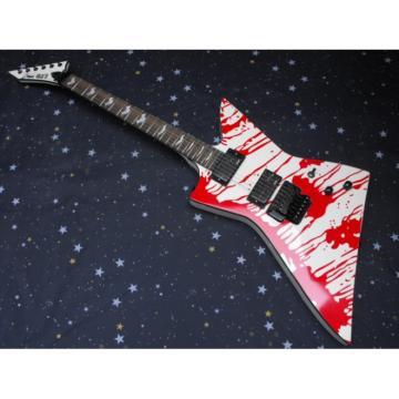 Custom Shop Dan Jacobs LTD ESP Blood Spatter Electric Guitar