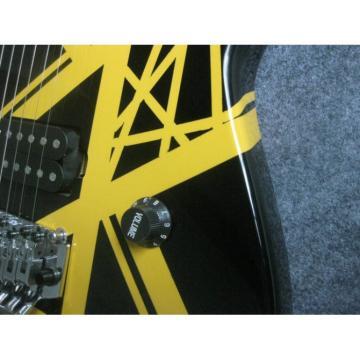 Custom Shop Charvel Black Yellow Electric Guitar