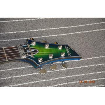Custom Schecter Hell Raiser Diamond Green Quilted Electric Guitar