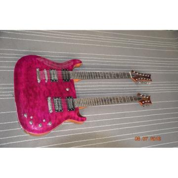 Custom PRS Double Neck Electric Guitar Purple Quilted Maple Top