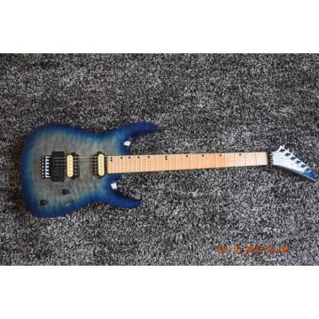 Custom Jackson Quilted Maple Top Blue Electric Guitar