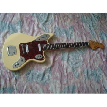 Custom Fender Cream Jaguar Electric Guitar