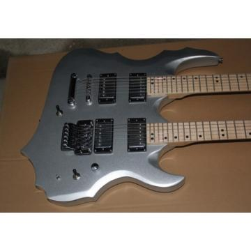 Custom ESP Forest 6 String 12 String Gray Electric Guitar Double Neck