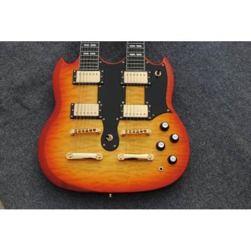 Custom Don Felder EDS 1275 SG Sunburst Double Neck Black Electric Guitar