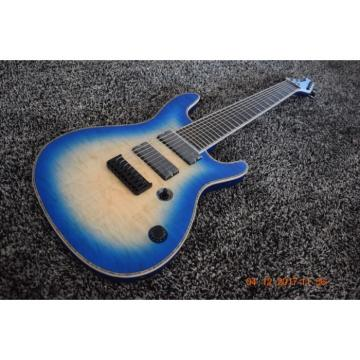 Custom Built Mayones Regius 8 String Blue Burst Electric Guitar