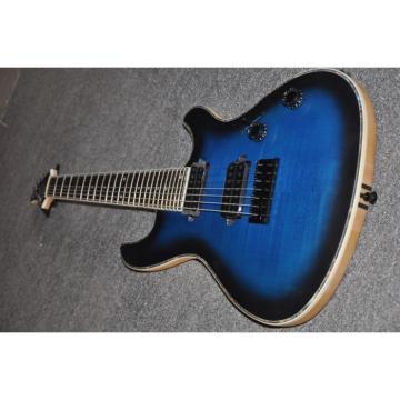 Custom Built Mayones Regius 7 String Electric Guitar Tiger Blue Maple Top