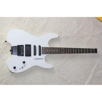 Custom Shop White Steinberger 24 Fret No Headstock Electric Guitar