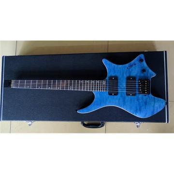 Custom Shop Steinberger Blue Maple Top Headless Electric Guitar
