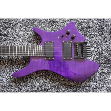 Custom Shop Fanned Frets Steinberger Purple Headless Electric Guitar