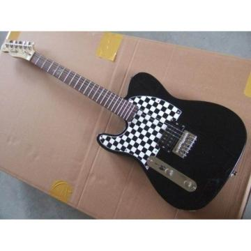 Custom Left Fender Black Ckeckered Telecaster Electric Guitar