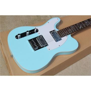 Custom Fender Left Handed Sky Green Telecaster Electric Guitar