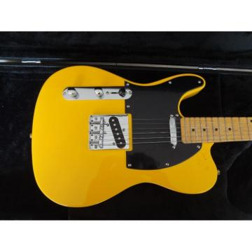 Custom Fender Left Handed Telecaster TV Yellow Electric Guitar