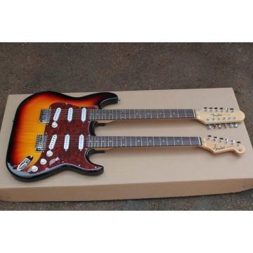 Double Neck Fender Stratocaster Vintage 12 6 String Guitar