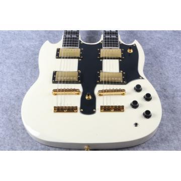 Custom Shop Jimmy Page Design SG White EDS 1275 Double Neck Guitar