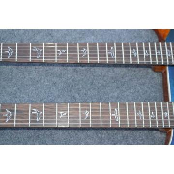 Custom Shop Double Neck 22 6 and 12 Strings Blue PRS Guitar