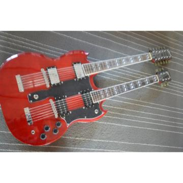 Custom Jimmy Page SG Red EDS 1275 Double Neck Guitar