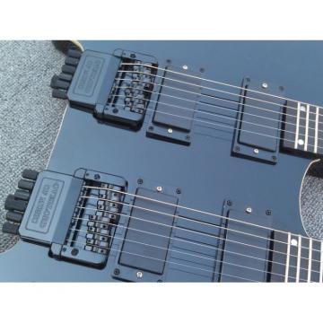 Custom Shop Steinberger Double Neck Headless Guitar Black