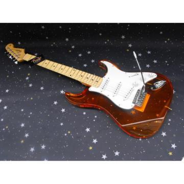 Plexiglas Lucite Fender Acrylic Orange Stratocaster Guitar