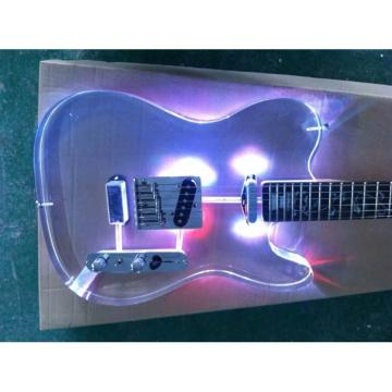 Custom Shop Multi Color Led Lights Acrylic Stratocaster Fender Guitar