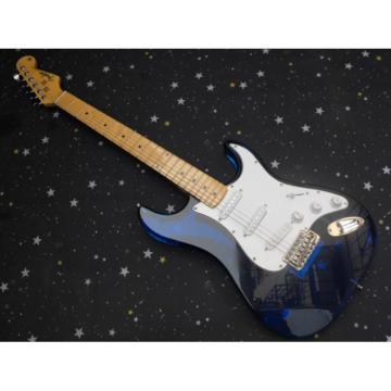 Custom Fender Acrylic Plexiglas Lucite Blue Stratocaster Guitar