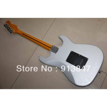 American Lefty Silver Fender Stratocaster Guitar