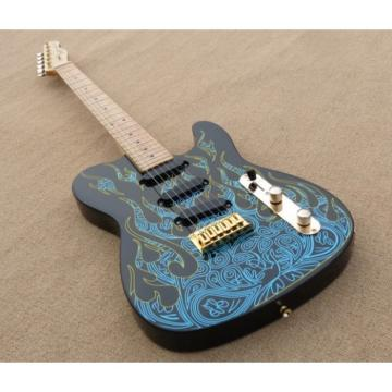 Custom Paisley Fender James Burton  Blue Fire Telecaster Guitar