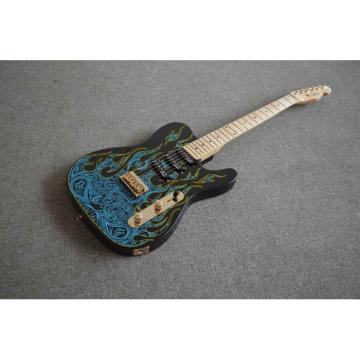 Custom Shop Paisley Fender James Burton  Blue Fire Telecaster 6 String Guitar Floral