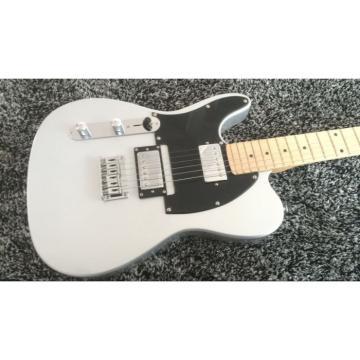 Custom Fender Left Handed Slick Silver Telecaster Blacktop Guitar Baritone Scale length 28 5/8 Inch 23 frets