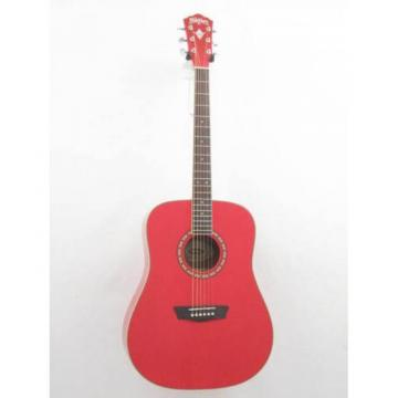 Washburn Apprentice WD10/R Red Dreadnought Acoustic Guitar