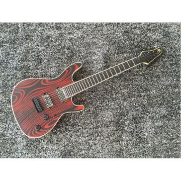 Custom Shop Setius GTM 7 Gothic Figured Red and Black Ash Top Mayones Guitar Japan Parts Katatonia