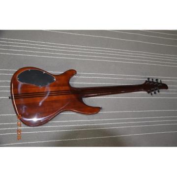Custom Built Regius 7 String Gray Flame Maple Finish Mayones Guitar