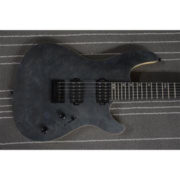 Custom Built Regius 7 String Gray Black Top Finish Mayones Guitar