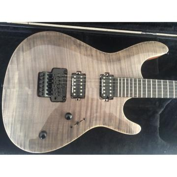 Custom Built Regius 6 String Gray Tiger Maple Top Bolt On Mayones Guitar