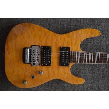 Custom Jackson Soloist Yellow Electric Guitar