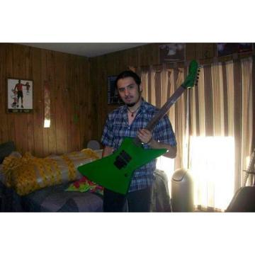 Custom Shop Korina ESP James Hetfield Green Explorer Guitar
