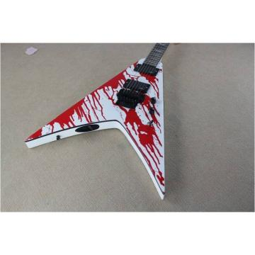 Custom Shop Blood Spatter Authorized EMG Pickups Dan Jacobs Flying V ESP Guitar