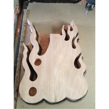 Custom  Shop Fire Flame Electric Guitar Carvings Floyd Rose Tremolo