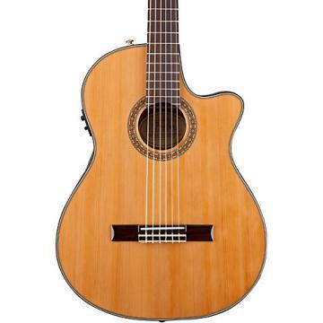 Fender Classic Design Series CN-240SCE Cutaway Thinline Classical Acoustic-Electric Guitar Natural