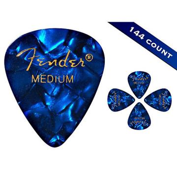 Fender 351 Premium Medium Guitar Picks - 144 Count Blue Moto