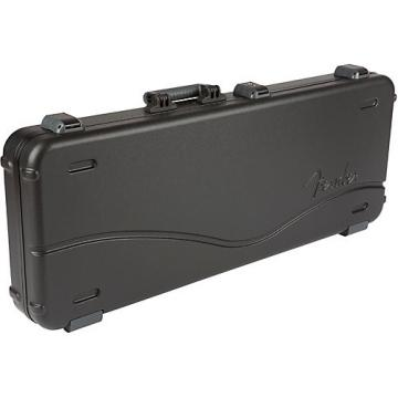 Fender Deluxe Molded ABS Strat-Tele Guitar Case Black Gray/Silver
