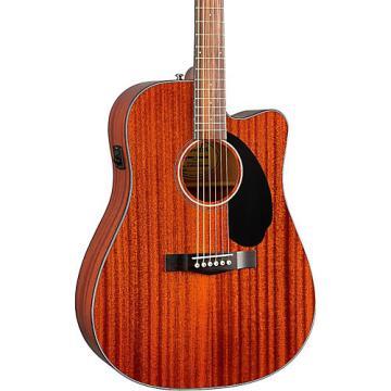 Fender Classic Design Series CD-60SCE All-Mahogany Cutaway Dreadnought Acoustic-Electric Guitar Natural