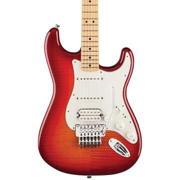Fender Standard Stratocaster HSS Plus Top with Locking Tremolo, Maple Fingerboard Aged Cherry Sunburst Maple Fingerboard
