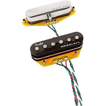 Fender Gen 4 Noiseless Telecaster Pickups Set of 2 Black and Chrome