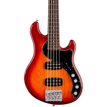 Fender Deluxe Active Dimension Bass V, Rosewood Fingerboard Aged Cherry Sunburst