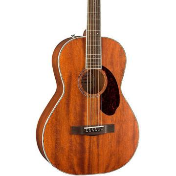 Fender Paramount Series PM-2 Standard All-Mahogany Parlor Acoustic Guitar Natural
